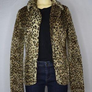 BB Dakota | Long Sleeved  Open Leopard Jacket M
